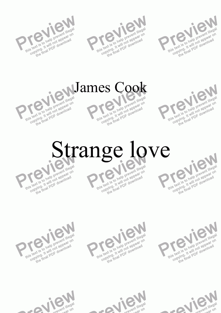 page one of Strange love