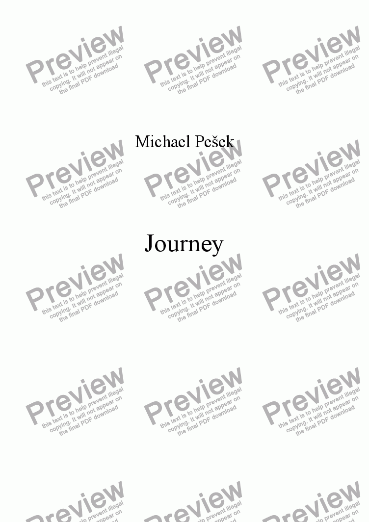 page one of Journey