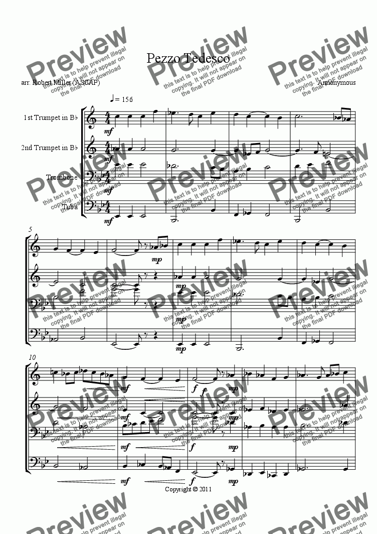 page one of Pezzo Tedesco