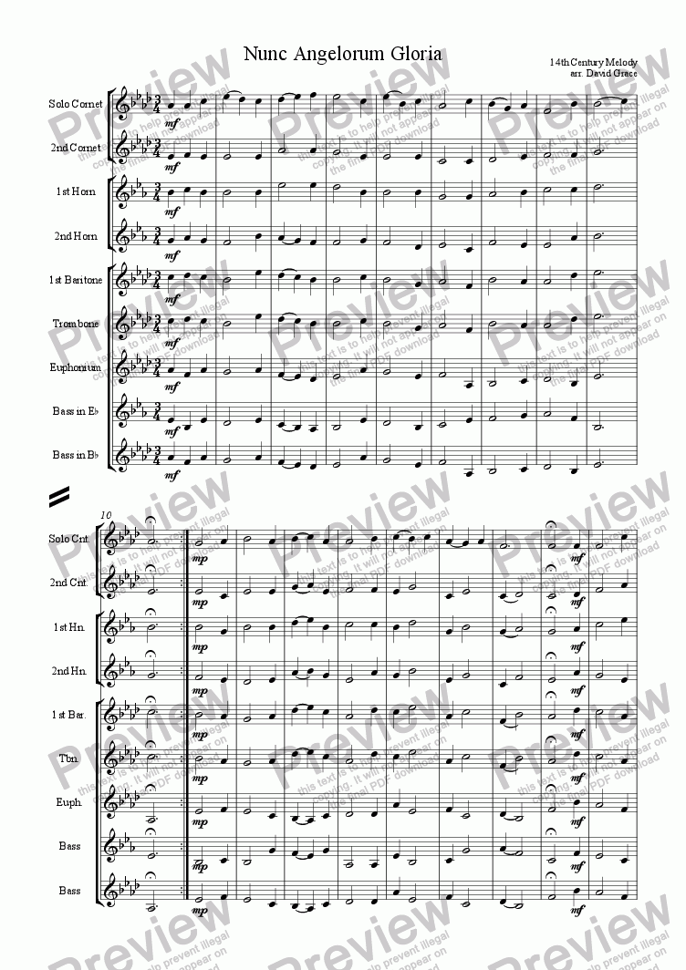 page one of Nunc Angelorum Gloria