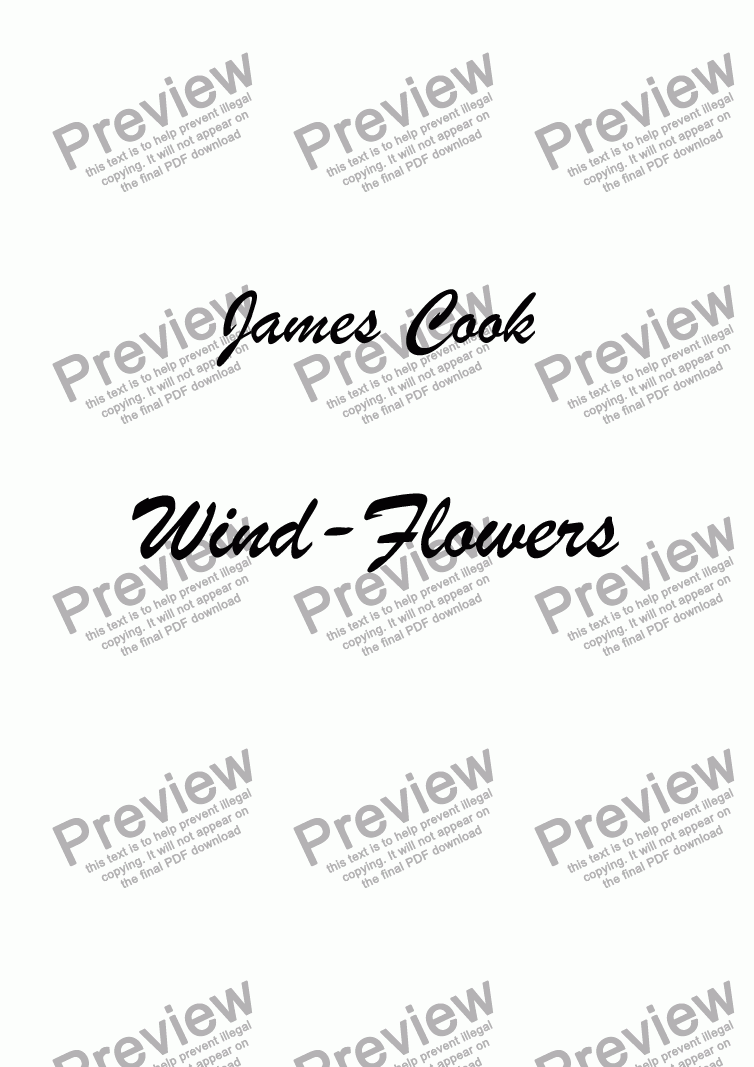 page one of Wind-Flowers