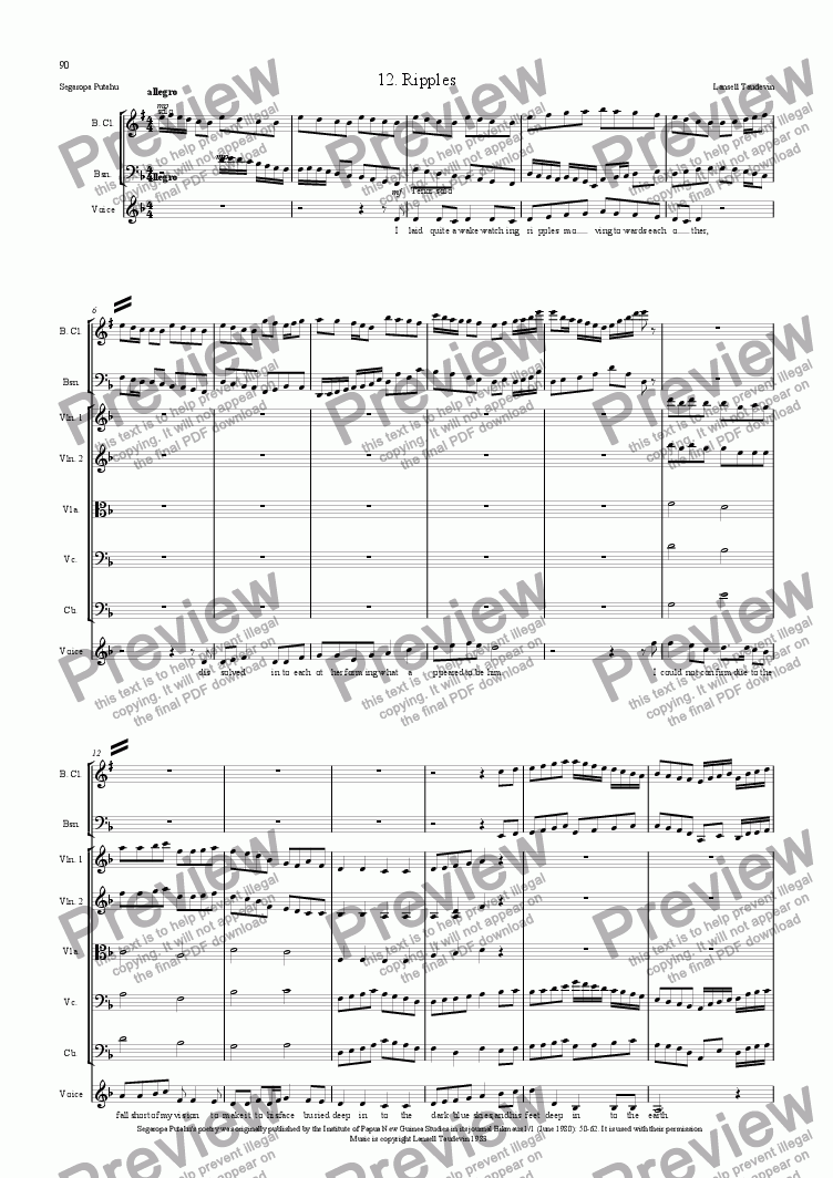 page one of Segaropa (Orchestrated) 12 Ripples
