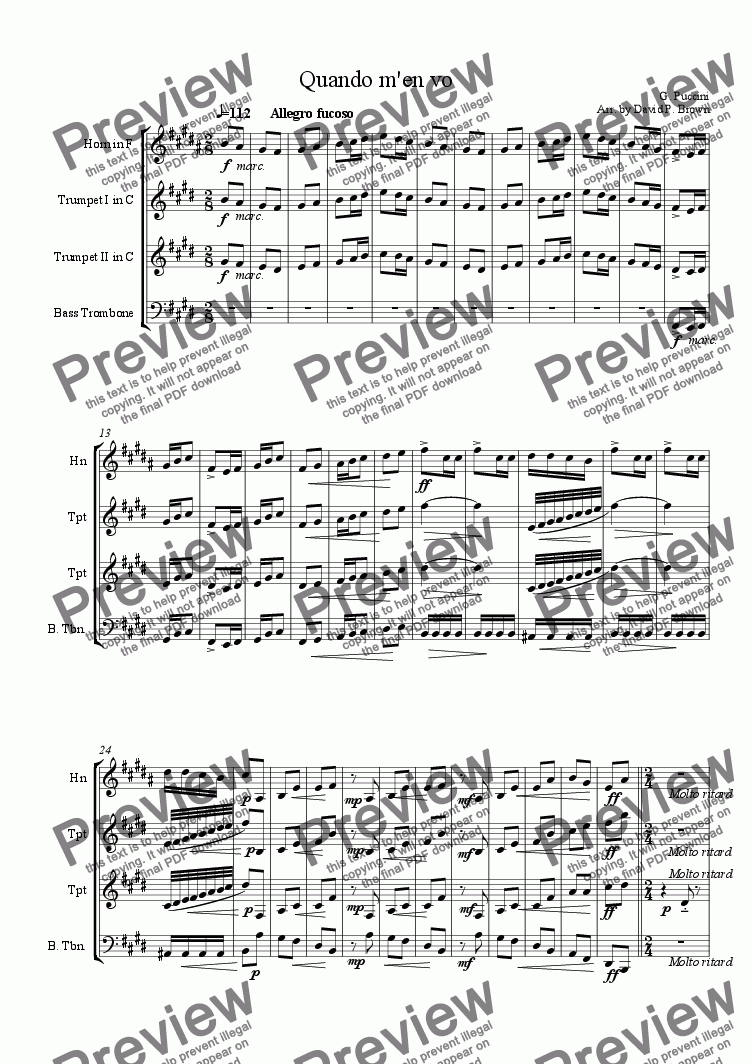 page one of Musetta's Waltz
