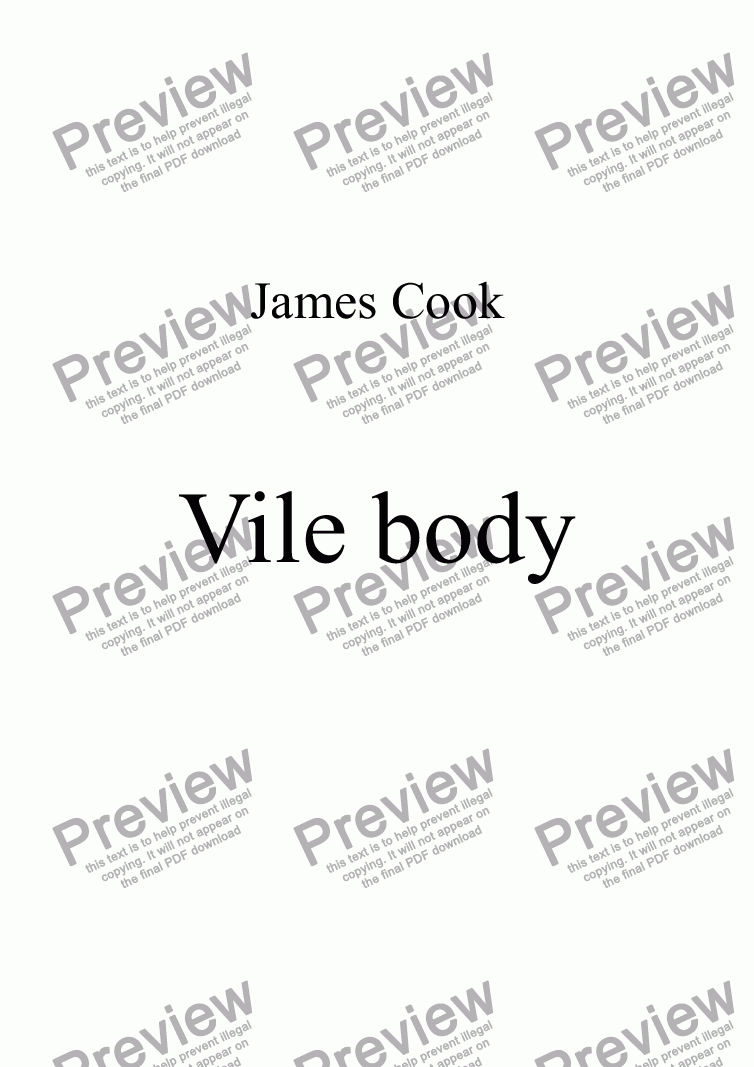 page one of Vile body