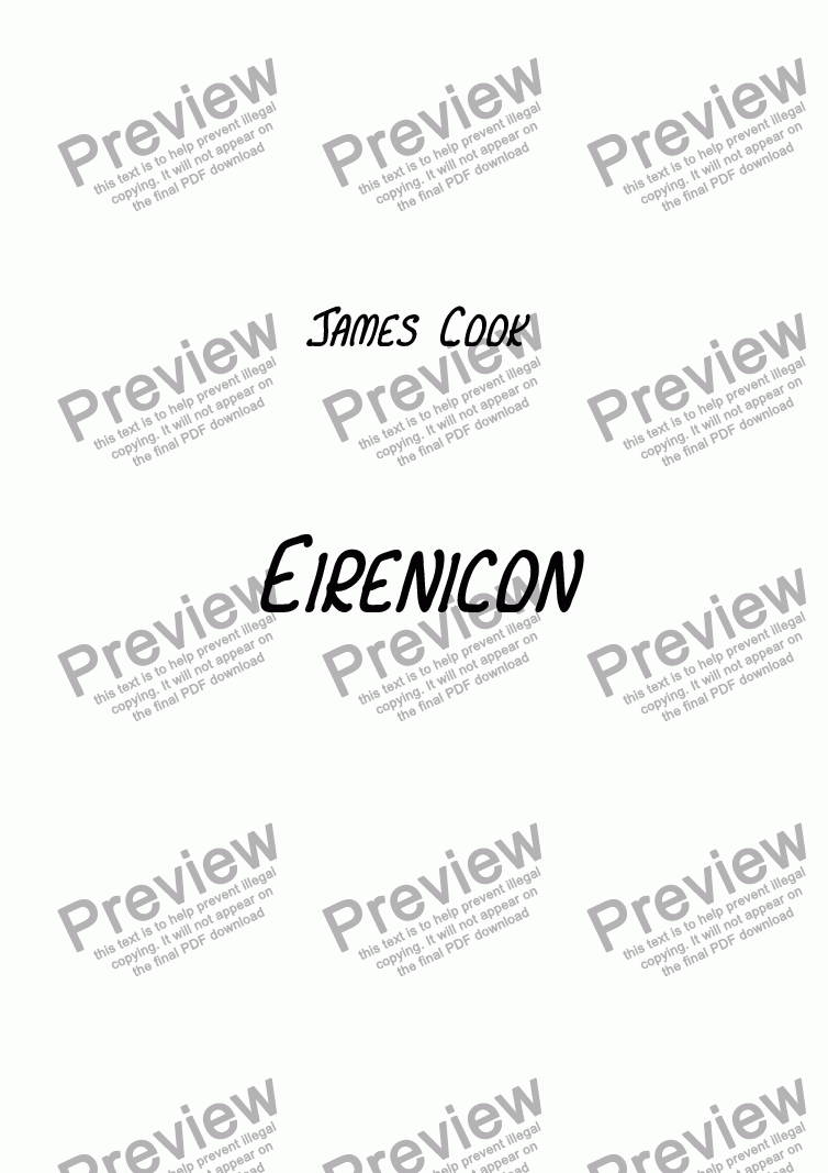 page one of Eirenicon