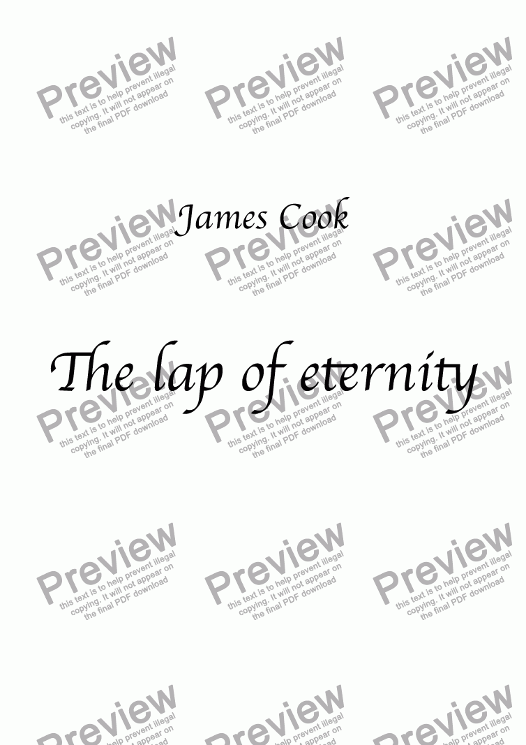 page one of The lap of eternity