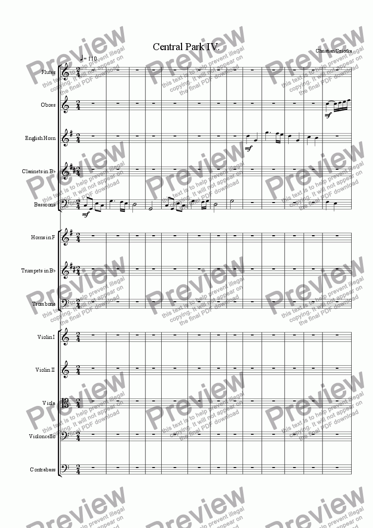 page one of Symphony No. 1