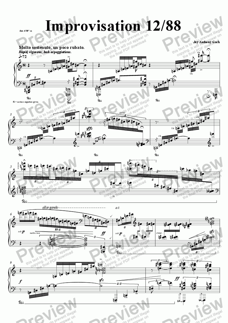 page one of Improvisation 12/88ASALTTEXT