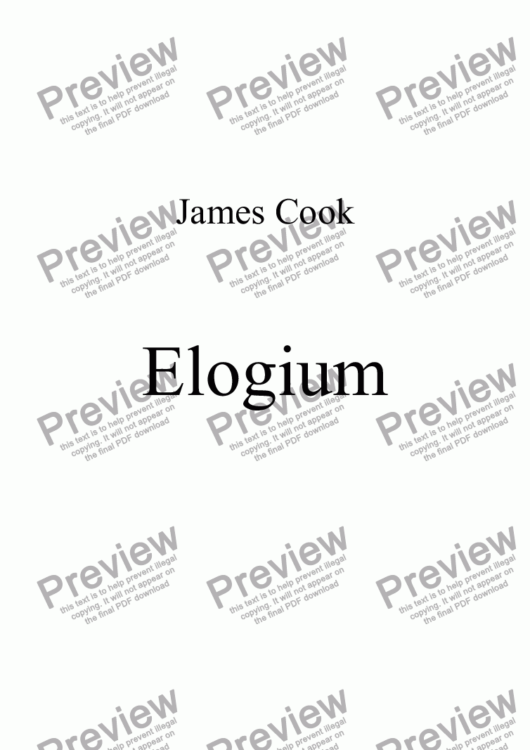 page one of Elogium
