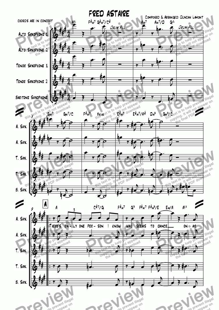 page one of Fred Astaire (Quintet)