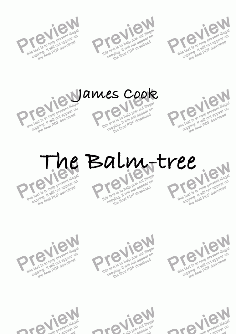 page one of The Balm-tree
