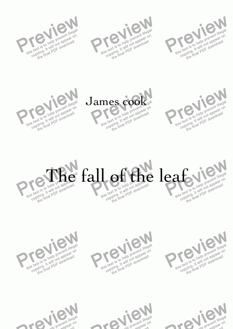 page one of The fall of the leaf