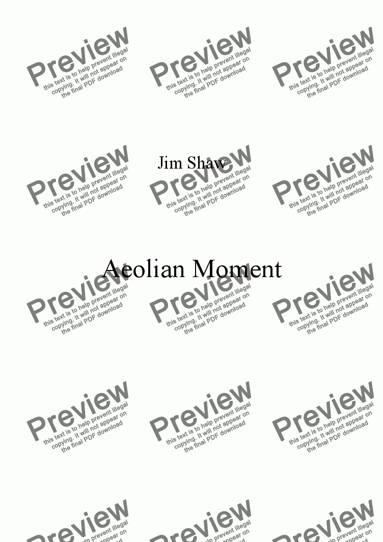 page one of Aeolian Moment