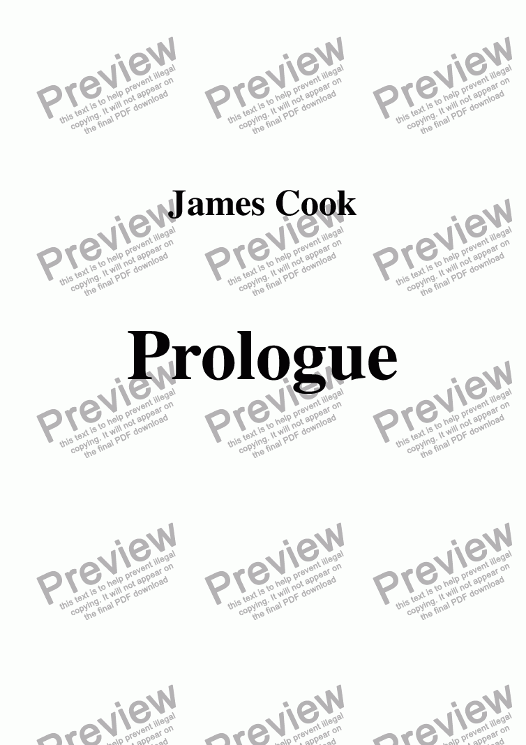 page one of Prologue