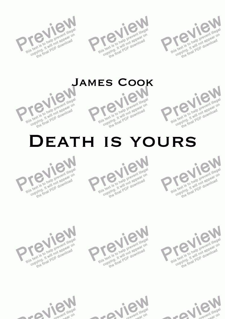 page one of Death is yours